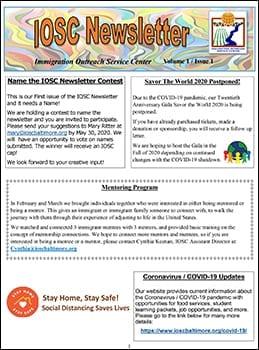 IOSC Newsletter V1-I1-1